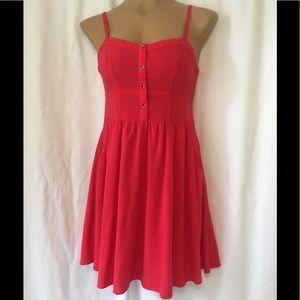 Express red spaghetti strap short summer Dress S